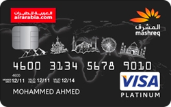 MASHREQ Air Arabia Platinum Card